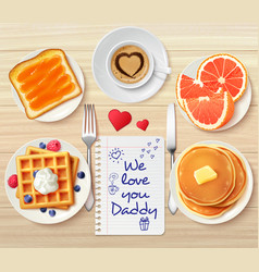 Sweet buffet daddy composition vector