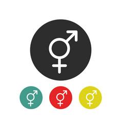 Transgender symbol line icon vector