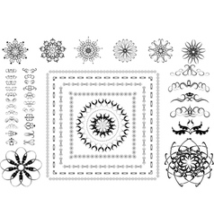 Variants of ornamental frames vector image