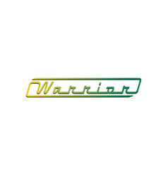 warrior lettering in modern logo design vector image
