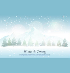 winter landscape with snowfall vector image