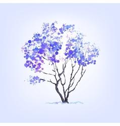 Winter tree of blots background vector image