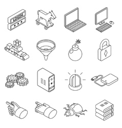 Data protection technology and web business vector image