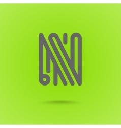 Graphic Line Font Logo Element Letter L vector image vector image