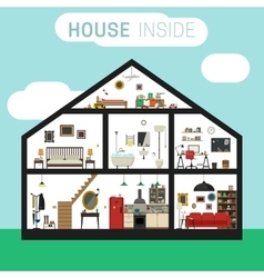 House inside interior vector image vector image