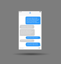 messaging interface mobile application chat vector image