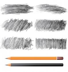 pencil drawings vector image vector image