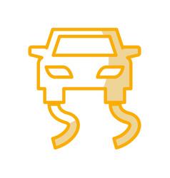Slippery road traffic signal icon vector