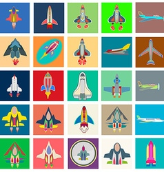 Abstract collection of colorful flat startup icons vector image vector image