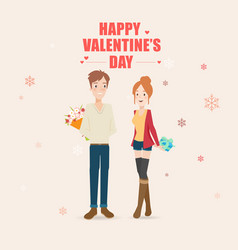 happy young couple vector image