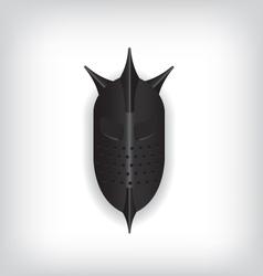 Medieval black warrior helmet vector