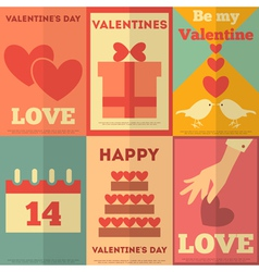 Valentines Posters vector image