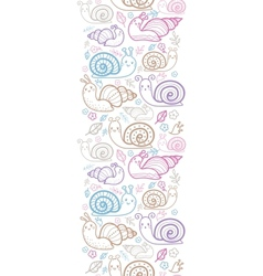 Cute smiling snails vertical seamless pattern vector image vector image