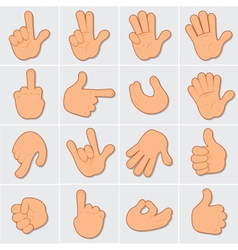 hand signals vector image vector image