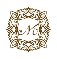 Luxury M monogram template vector image vector image