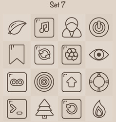 Outline Icons Set 7 vector image vector image