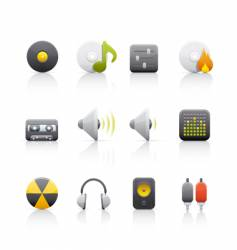 audio equipment icons vector image vector image