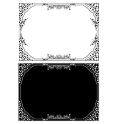 retro floral frame in different styles vector image
