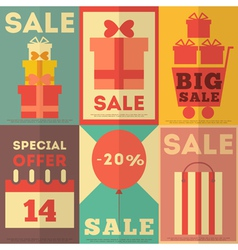 Retro Sale Posters vector image vector image
