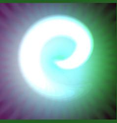 single light blue neon letter e of vector image vector image
