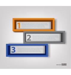 3d frames vector image