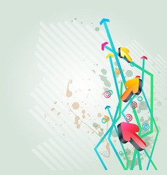 abstract arrow background element design vector image