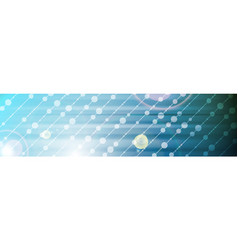 abstract bright shiny tech web header banner vector image