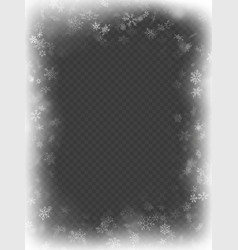 abstract christmas frame overlay effect with vector image