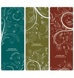 Abstract floral banners set vector