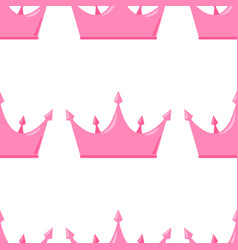 Abstract seamless pattern with king princess vector