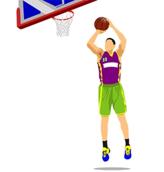al 1110 basketball 04 vector image