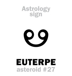 Astrology asteroid euterpe vector