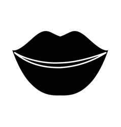 Beautiful mouth icon vector