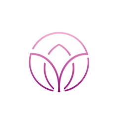 Beauty abstract spa flower logo vector