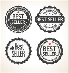 best seller retro vintage badge and labels vector image