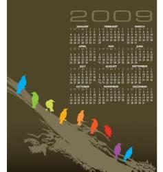 Birds calendar vector