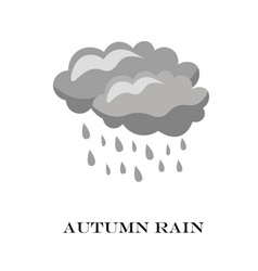 blue cloud rain icon isolated on background vector image