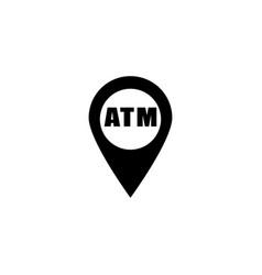 blue location bank icon vector image