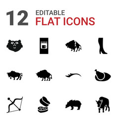 Brown icons vector