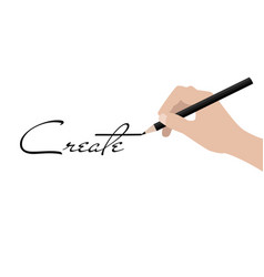 Business hand writing create vector