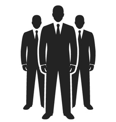 Business team black icon leadership concept vector