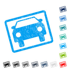 Car icon rubber watermark vector