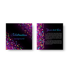 christmas invitation card with confetti vector image