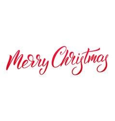 christmas lettering calligraphy christmas text vector image