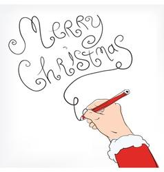 christmas postal drawing vector image