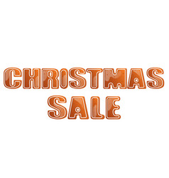 Christmas sale poster isolated vector