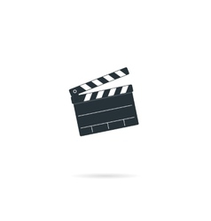 Cinema clapper board vector