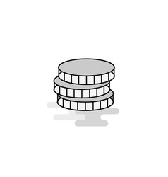 coins web icon flat line filled gray icon vector image