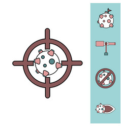 Collection of icons and space concept vector