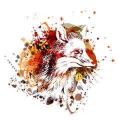 Color fox head vector